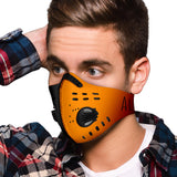 Face Mask - Black Orange - AloK2 collection - Jabrichank.com
