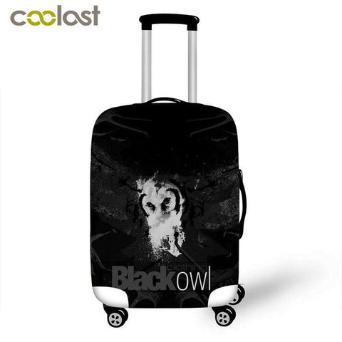 Cute owl protective cover for travel luggage suitcase stretchable waterproof luggage cover suit for 18-28 inch luggage set