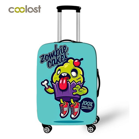Coolost Cartoon Monster Travel Accessories Suitcase Protective Covers Nom Nom Elastic Luggage Cover Dustproof Travel Bag Cover