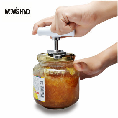 MOM'S HAND Adjustable Can Opener Stainless Steel Manual Can Opener Bottle Opener Easy Can Opener
