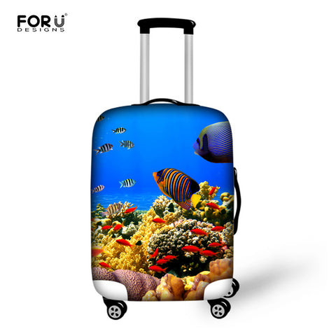 FORUDESIGNS Fish Elastic Travel Bag Protective Cover Suitcase 18/20/22/24/26/28/30 Inch Trolley Case Elastic Luggage Rain Covers