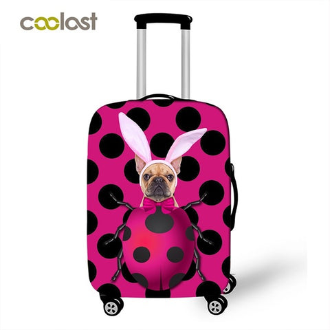cute dog fashion style luggage suitcase for travel luggage protective covers personalized 3D lifelike design stretch cases cover