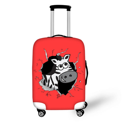 FORUDESIGNS Elephant Kawaii Case Cover Suitcase Protective Covers Travel Cartoon Luggage Trunk Thick Covers for Kids Girls Boys