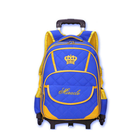 Hot Sale Trolley Backpack Girls Wheeled School Bag Children Travel Luggage Suitcase On Wheels Kids Rolling Book Bag
