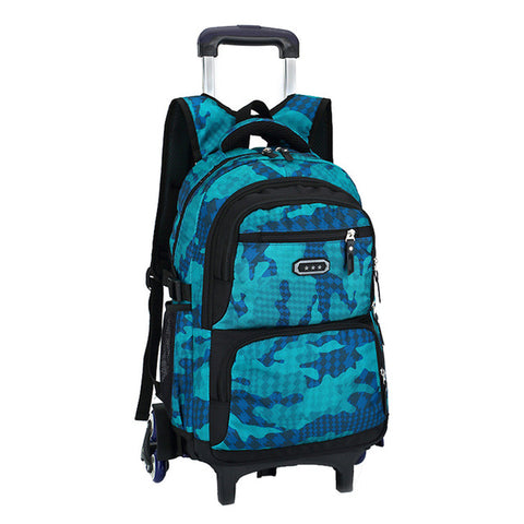 Hot Boys Trolley backpack Girls Wheeled School Bag children Travel Luggage Suitcase On Wheels kids Rolling book bag detachable - Jabrichank.com