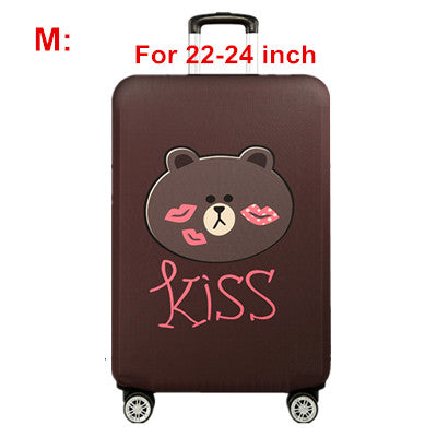 Cute Bear Luggage Cover Lovely Women's Kid's Elastic Suitcase Protective Travel Case Trolley Dust Rain Bags Accessories Supply