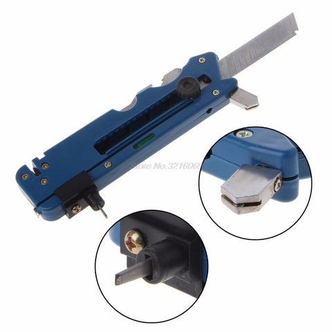 Professiona Glass Cutter Six Wheel Metal Cutting Kit Tool with Measure Ruler Fashion New - Jabrichank.com