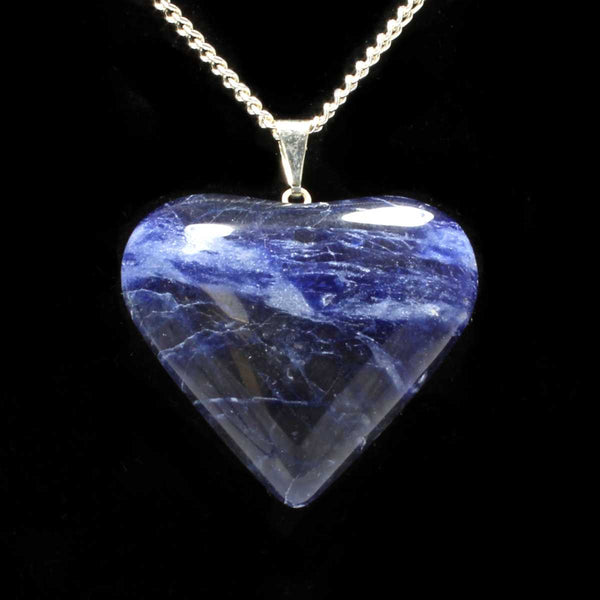 Sodalite Heart Pendant with Chain