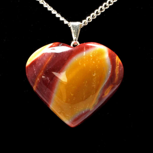 Mookaite Heart Pendant with Chain