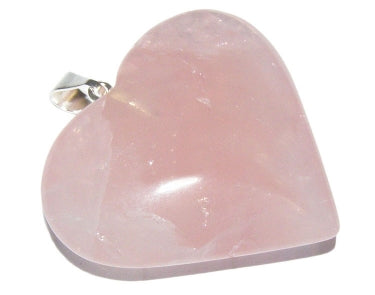 Rose Quartz Heart Pendant with Chain