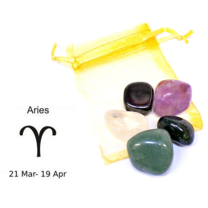 Aries - Sign Of The Zodiac Healing Crystal Pack