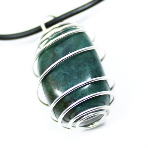 Bloodstone Wire Wrapped Necklace