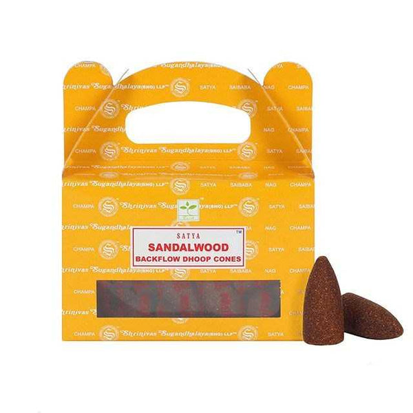 Sandalwood - Satya Backflow Incense Cones