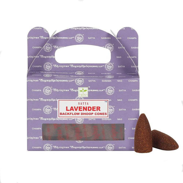 Lavender - Satya Backflow Incense Cones