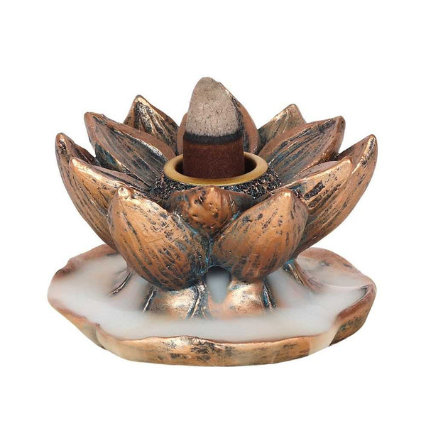 Bronze Lotus Backflow Incense Burner