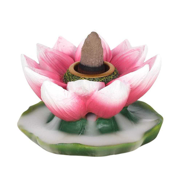 Coloured Lotus Backflow Incense Burner