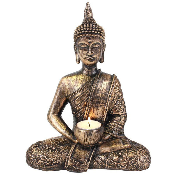 Sitting Thai Buddha Tealight Holder