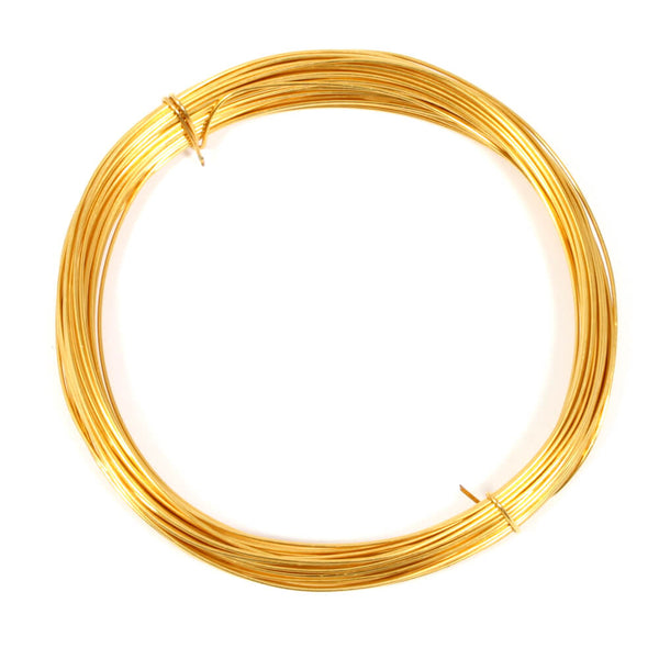Gold Plated Copper Wire For Jewellery Making - 0.6mm