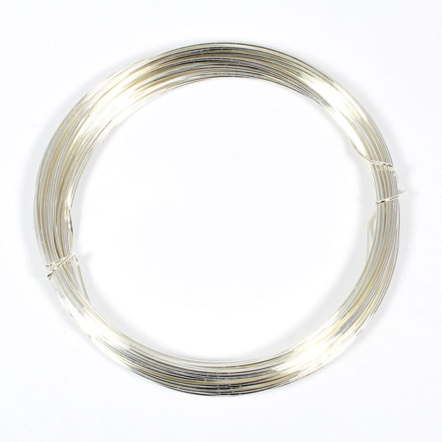 Silver Plated Copper Wire For Jewellery Making - 0.6mm