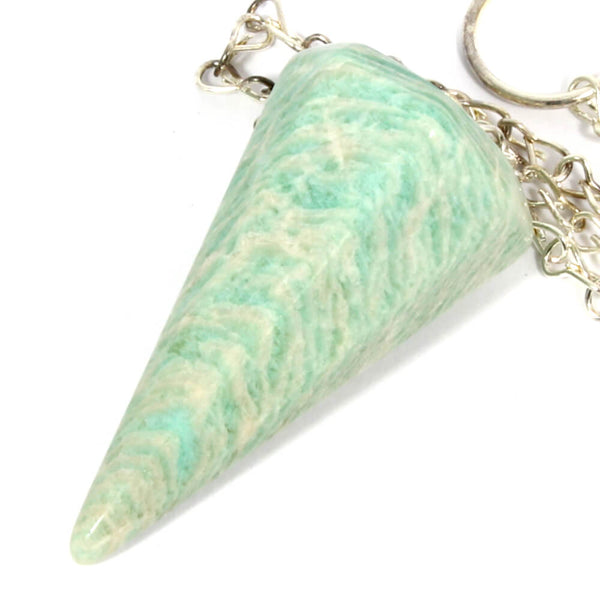 Amazonite Faceted Cone Pendulum
