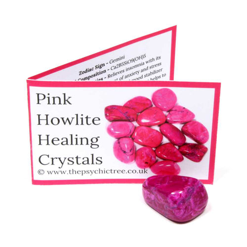 Pink Howlite Crystal & Guide Pack