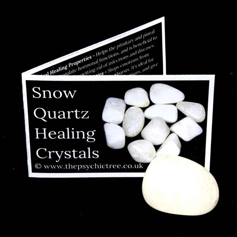 Snow Quartz Polished Tumblestone Healing Crystals