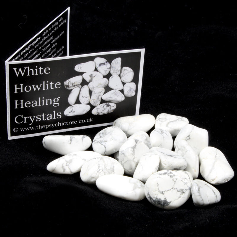 White Howlite Tumblestone Value Pack