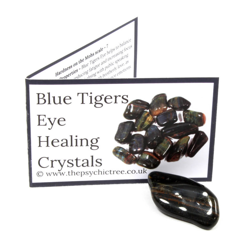 Blue Tigers Eye Crystal & Guide Pack