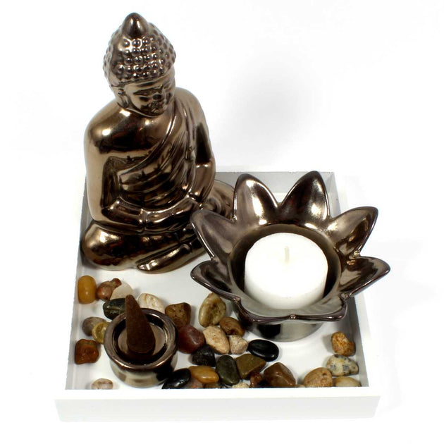 Buddha Tealight and Incense Holder