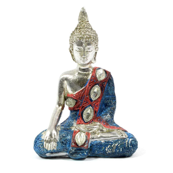 Metallic Thai Buddha - Blue