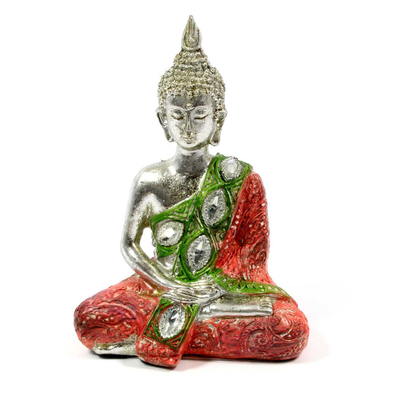 Metallic Thai Buddha - Red