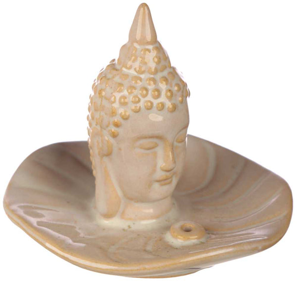 Ceramic Thai Buddha Head incense Holder