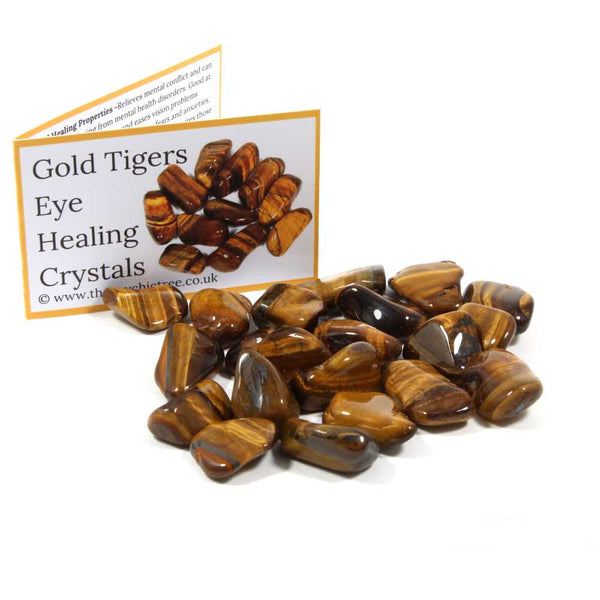 Gold Tigers Eye Tumblestone Value Pack