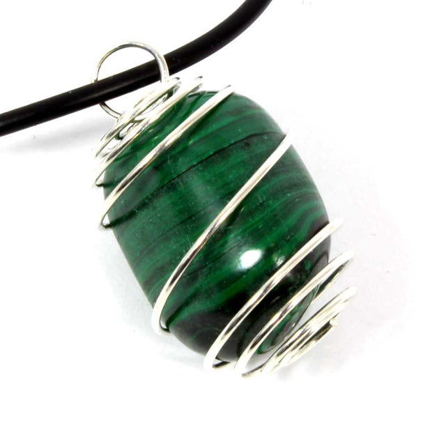 Malachite Wire Wrapped Necklace