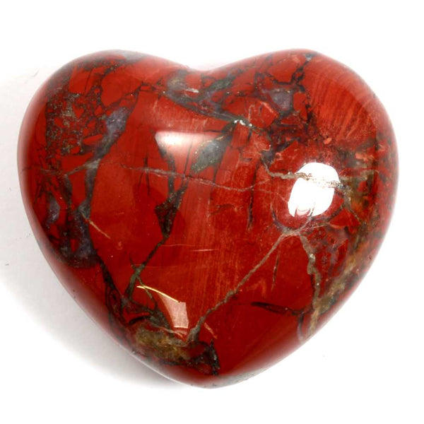 Red Jasper Heart Healing Crystal