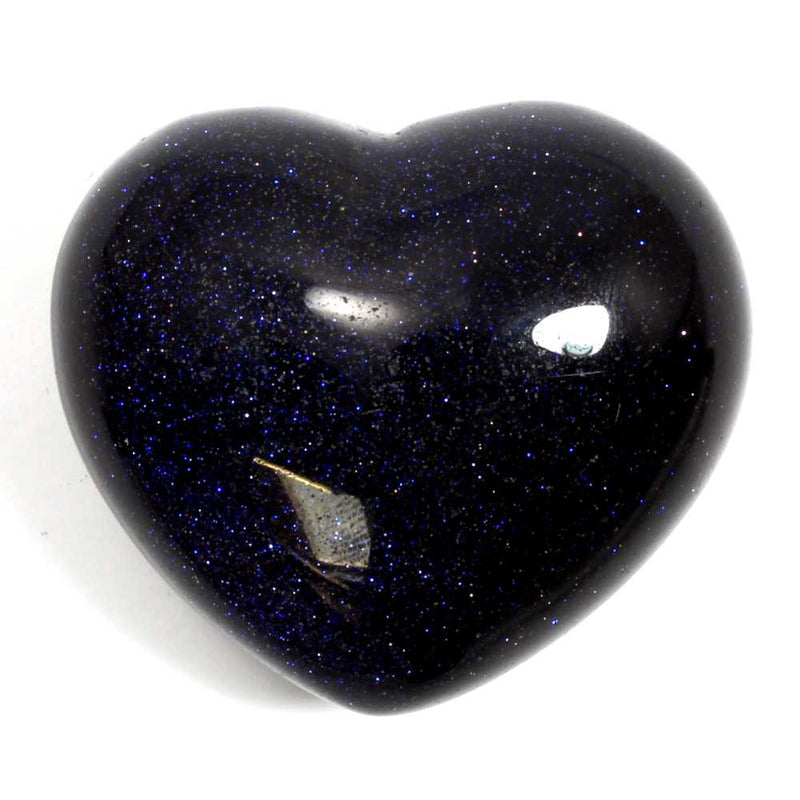 Blue Goldstone Heart Healing Crystal