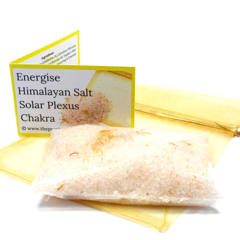 Energise Crystal Infused Bath Salts - Solar Plexus Chakra