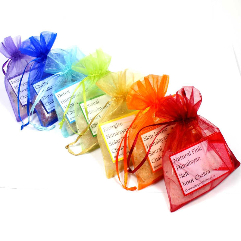 Crystal Infused Bath Salts - Chakra Variety Pack
