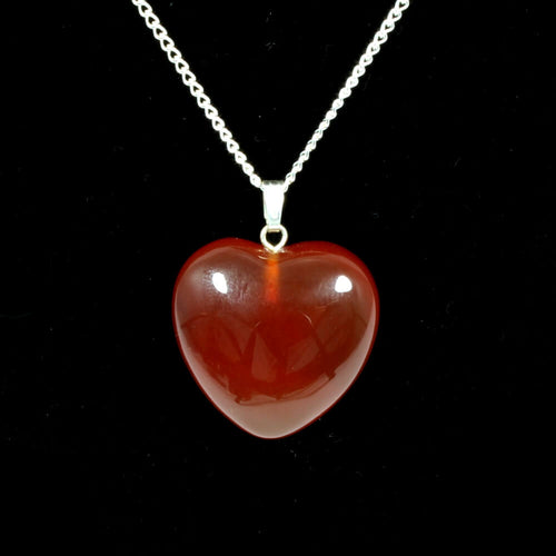 Carnelian Heart Pendant With Chain