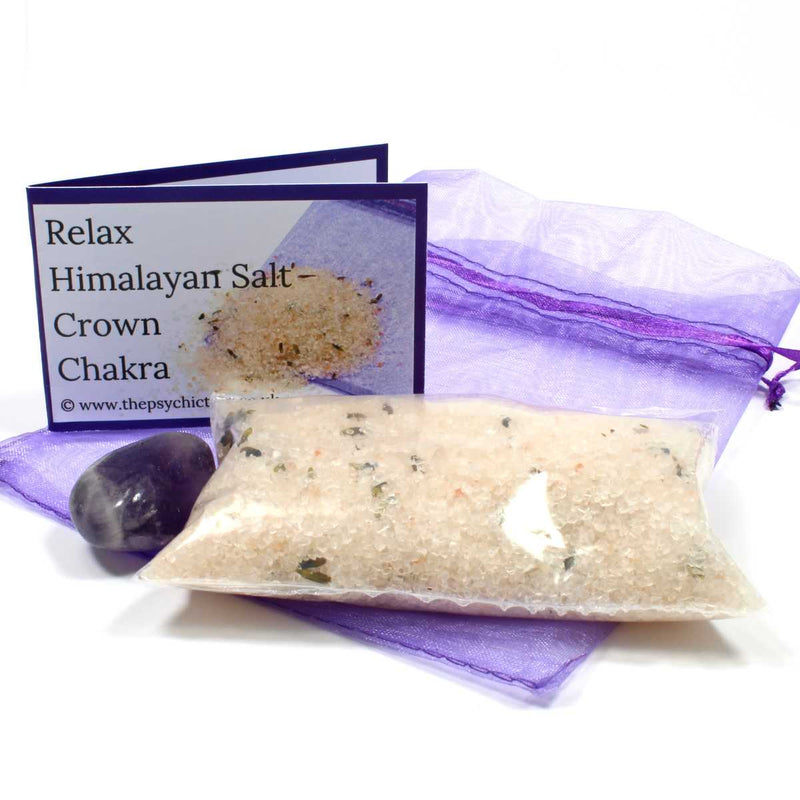 Relax Crystal Infused Bath Salts - Crown Chakra