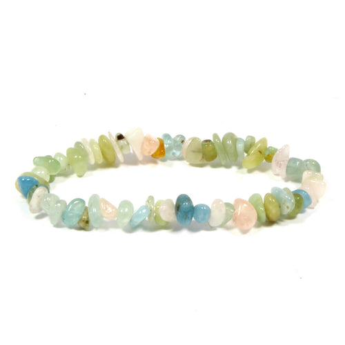 Morgonite Stone Chip Bracelet