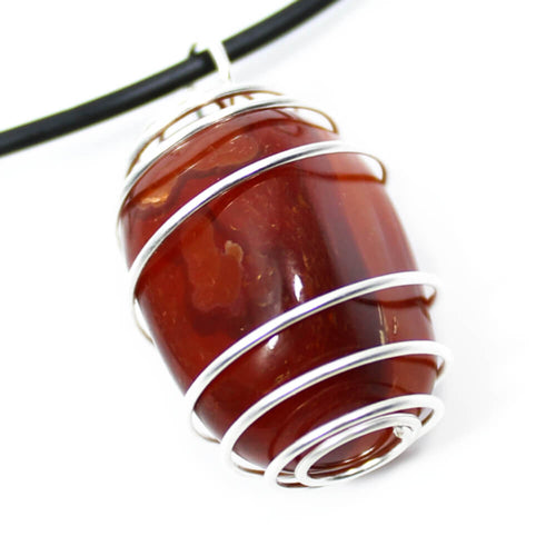 Carnelian Wire Wrapped Necklace