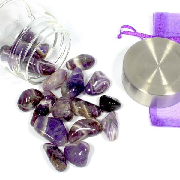 Crystal Water Bottle Pack - Chevron Amethyst for Deeper Understanding