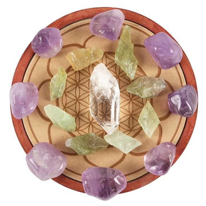 Healing Crystal Grid Set