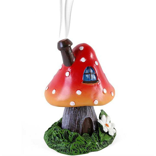 Red Smoking Toadstool Incense Cone Holder