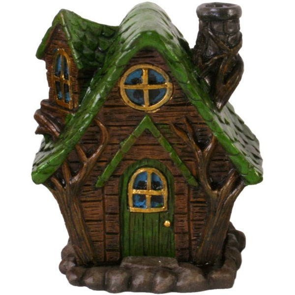 Fairy House Incense Cone Holder - Woody Lodge