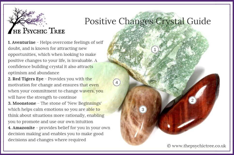 Positive Changes Healing Crystal Pack