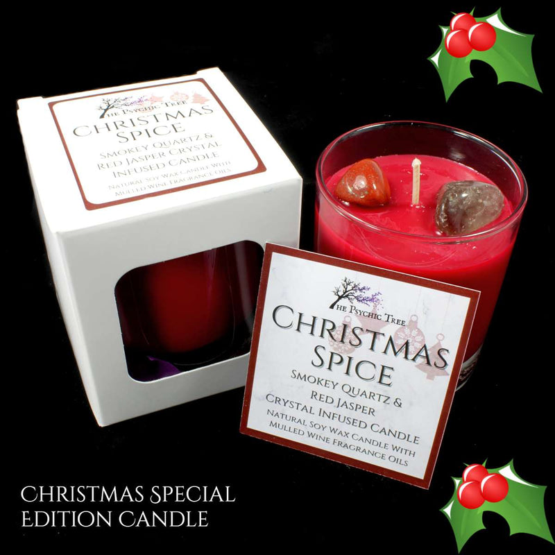 Christmas Spice - Crystal Infused Scented Candle
