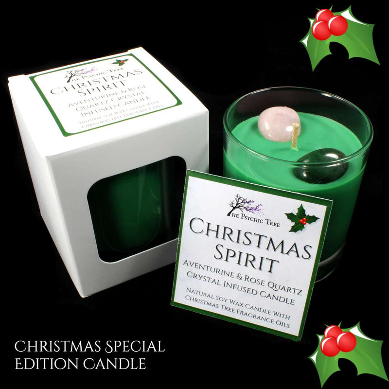 Christmas Spirit - Crystal Infused Scented Candle