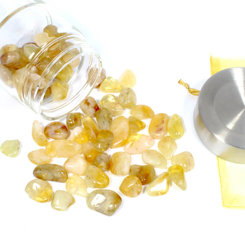 Crystal Water Bottle Pack - Citrine for Optimism and Abundance